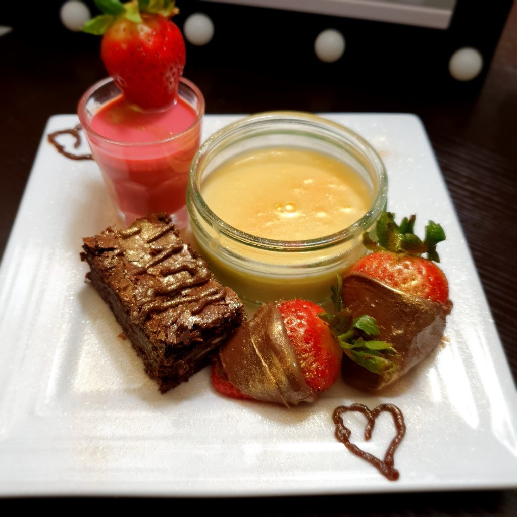 Lemon Posset and Chocolate Brownie